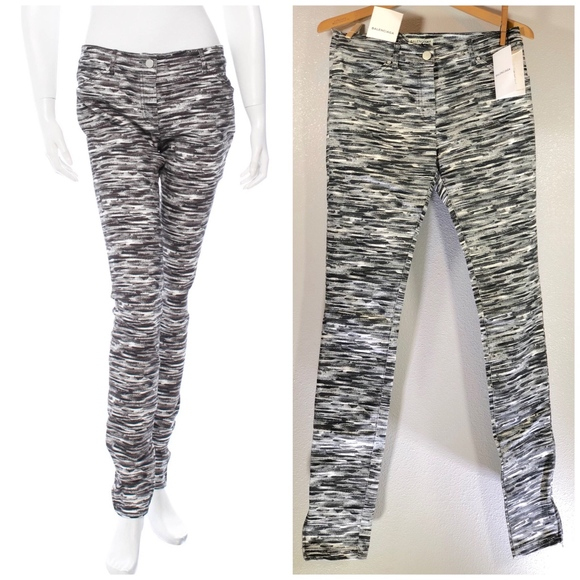 4bb6bd1142b6  BALENCIAGA  Black   White Printed Pants Jeans